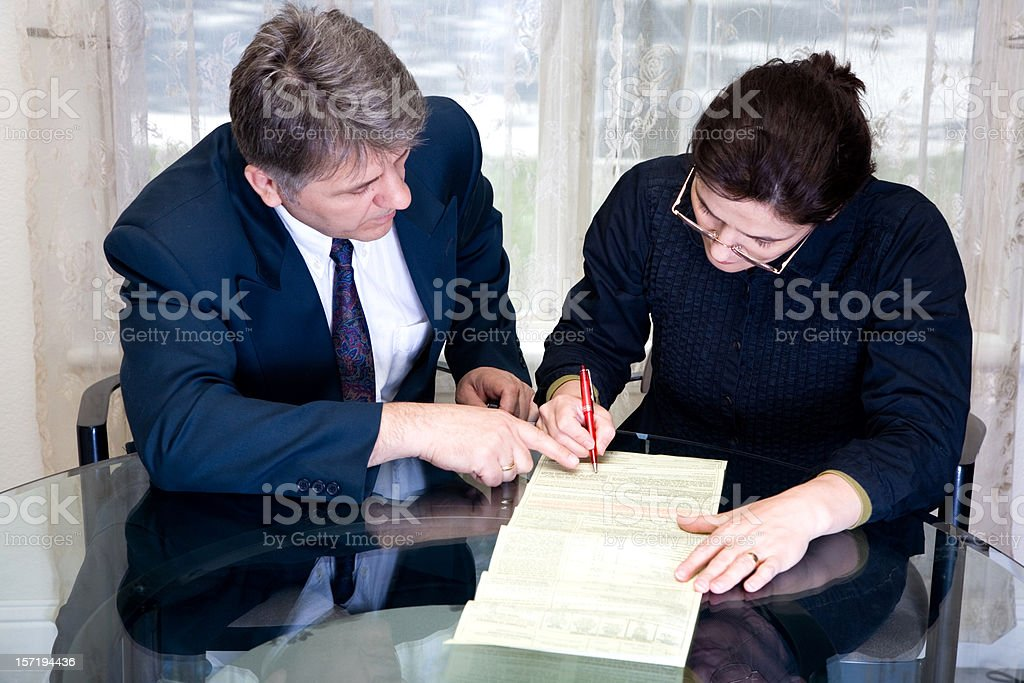 Contract Advice royalty-free stock photo