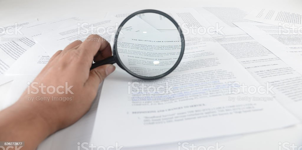 Contract and agreement stock photo