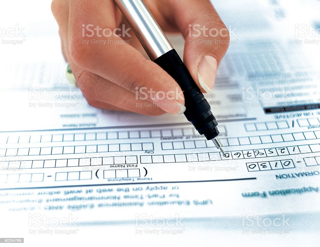 contract being written royalty-free stock photo