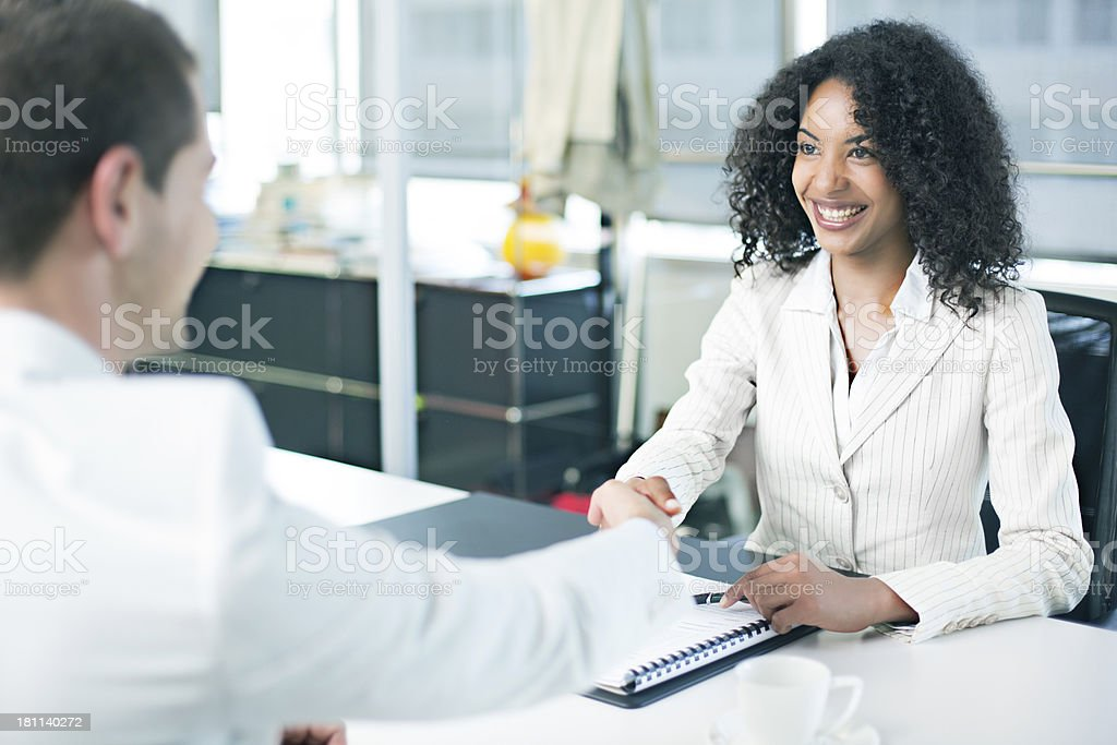Contract done stock photo