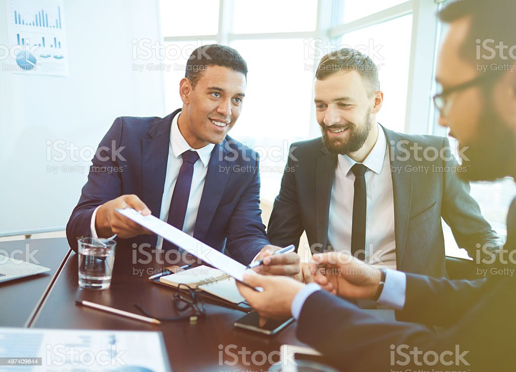 Contract for sign stock photo