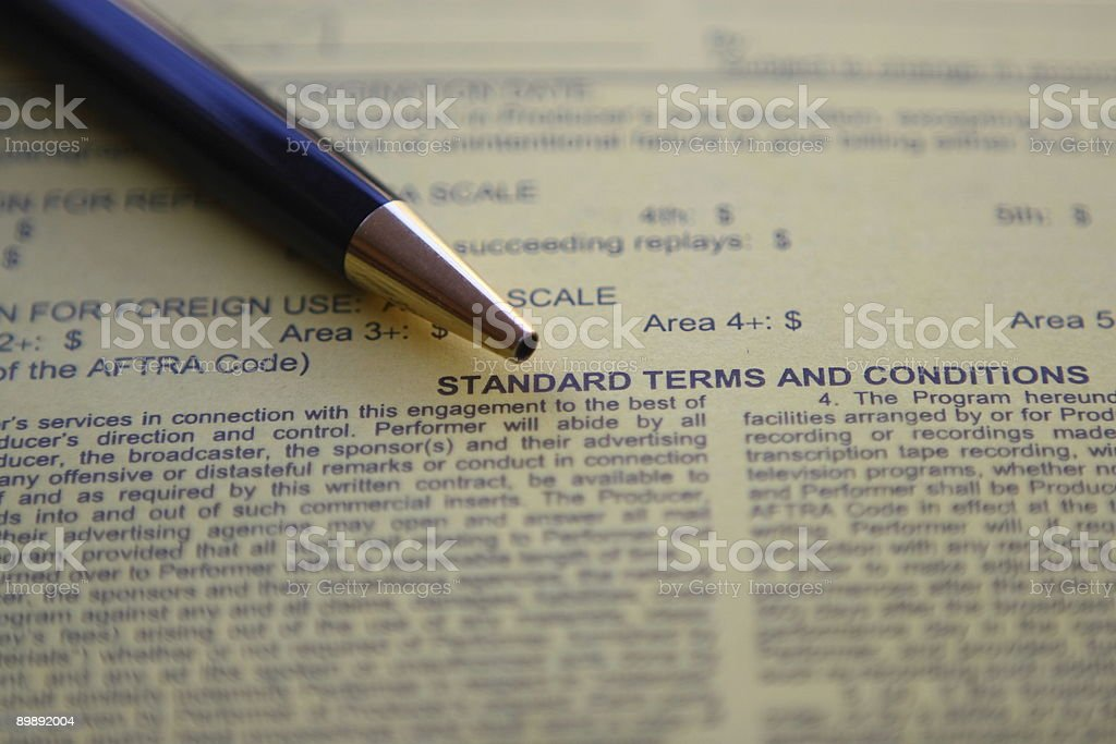 Contract for signature stock photo