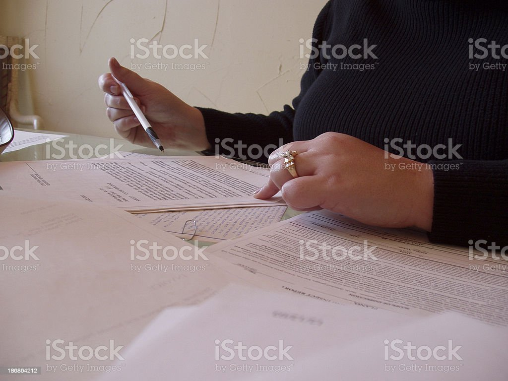 Contract - hands royalty-free stock photo