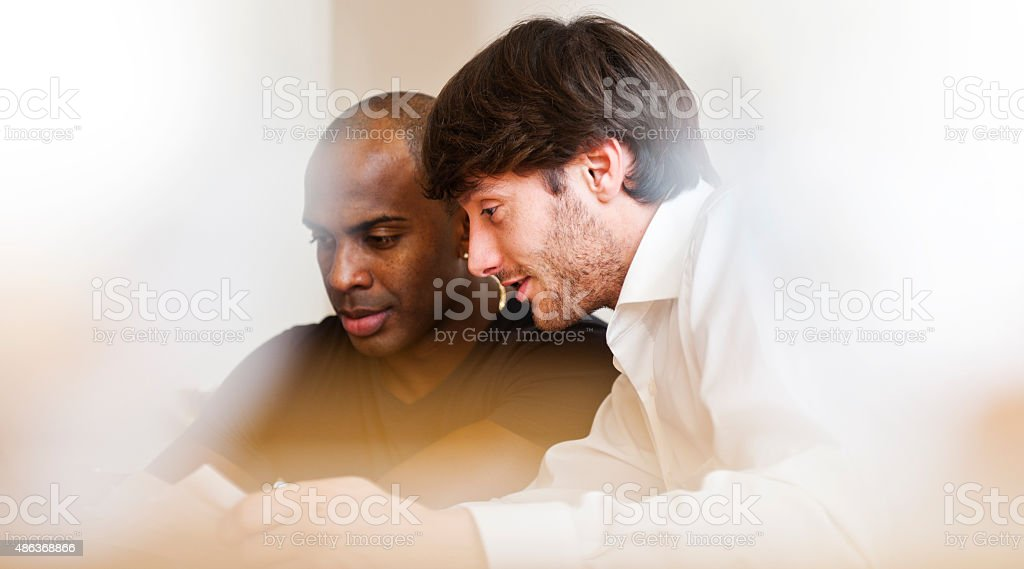Contract negotiations stock photo