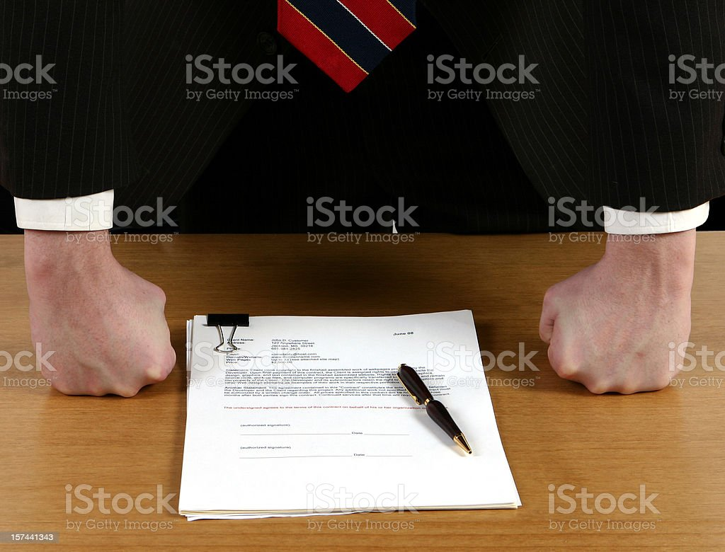 Contract Offer stock photo