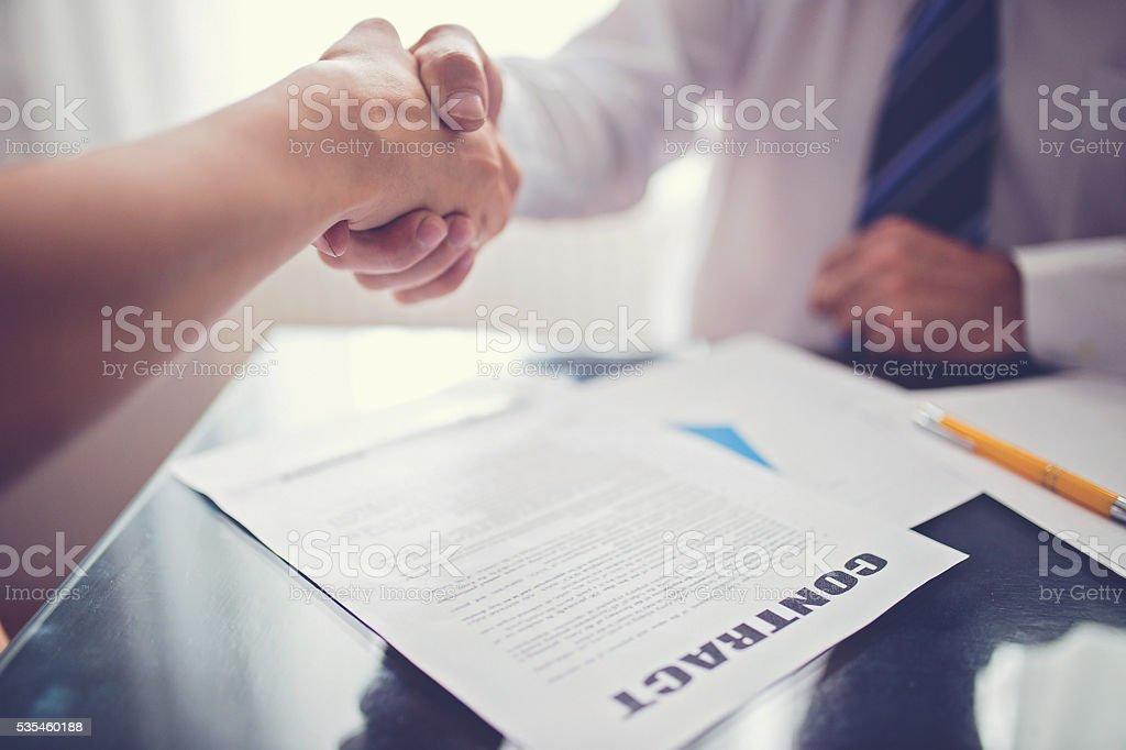 Contract paper stock photo