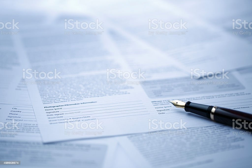 Contract stock photo