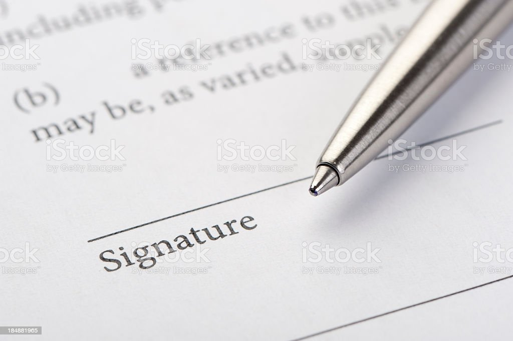 Contract ready for signature. royalty-free stock photo