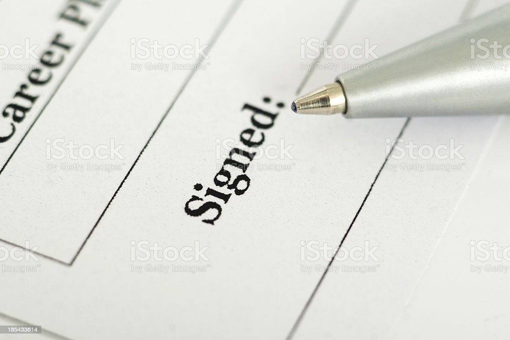 Contract ready for signature royalty-free stock photo