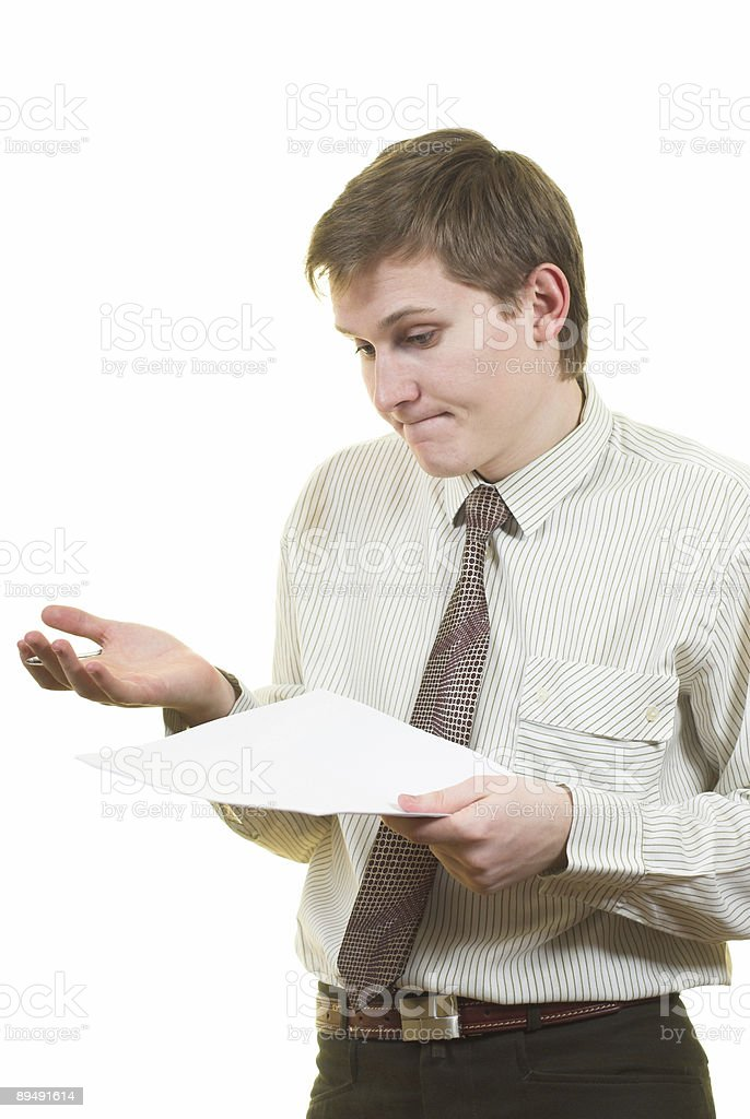 Contract reviewing royalty-free stock photo