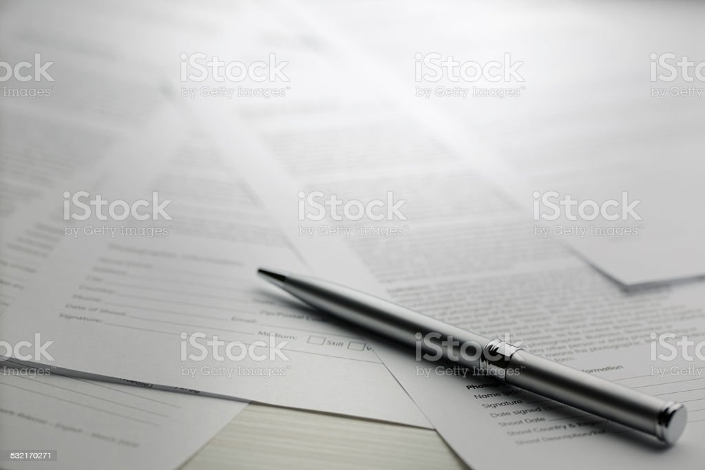contract series - Stock Image stock photo