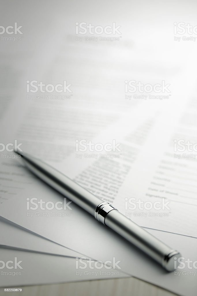 contract series - Stock Image stock photo