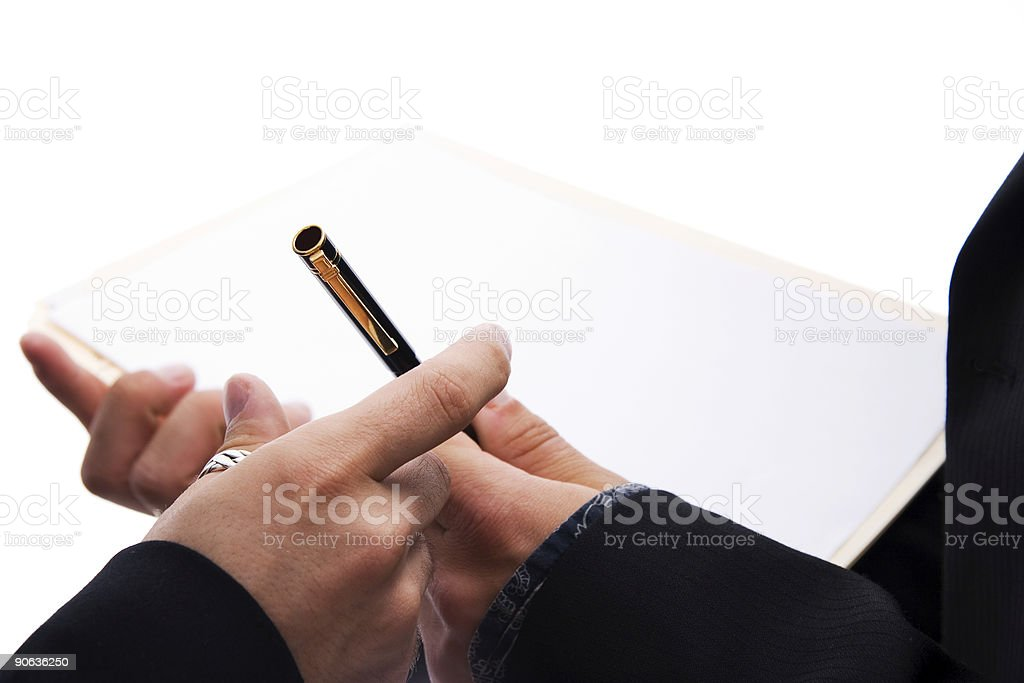 Contract signature royalty-free stock photo