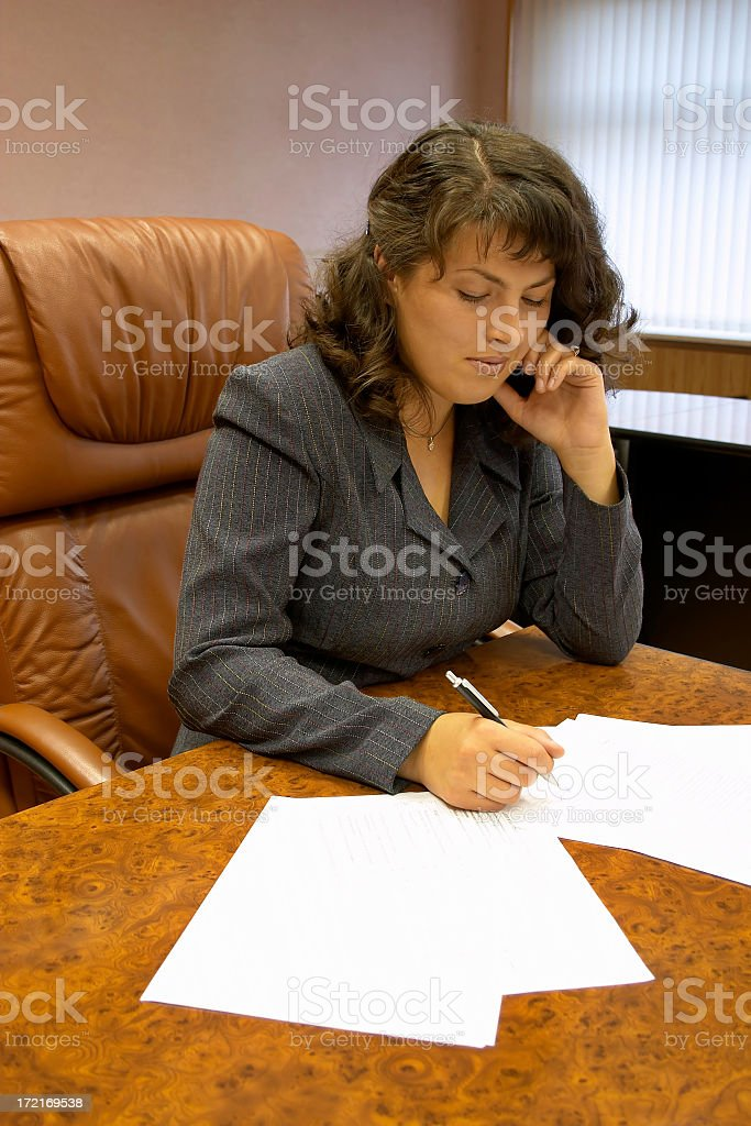 Contract signed!!! royalty-free stock photo