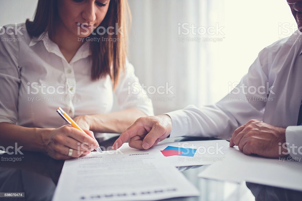 Contract signing stock photo