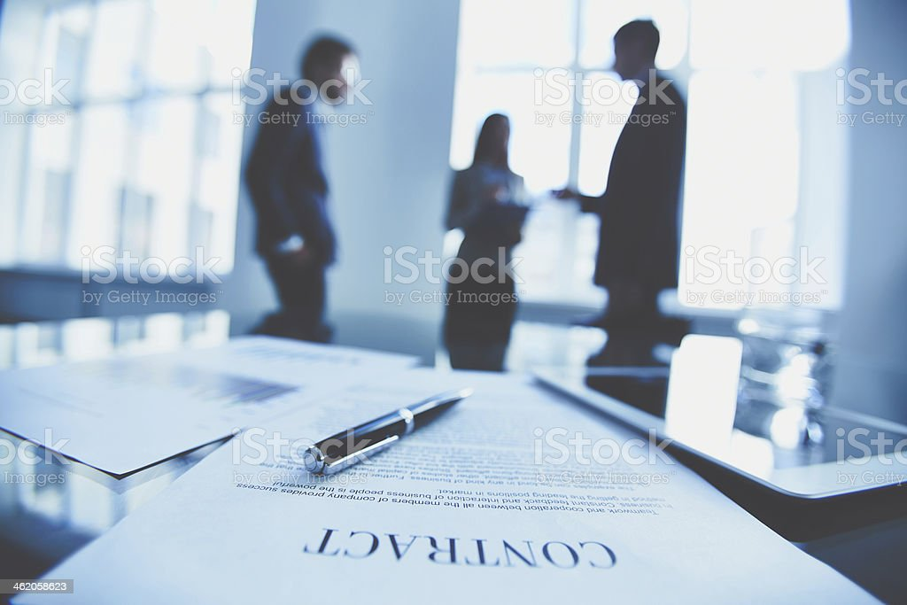 Contract to sign stock photo