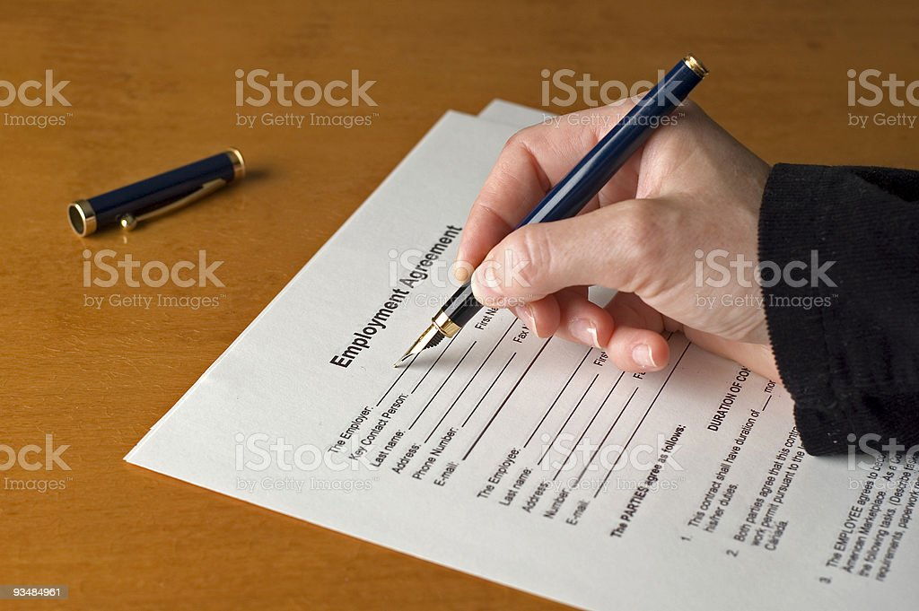 contract2 royalty-free stock photo