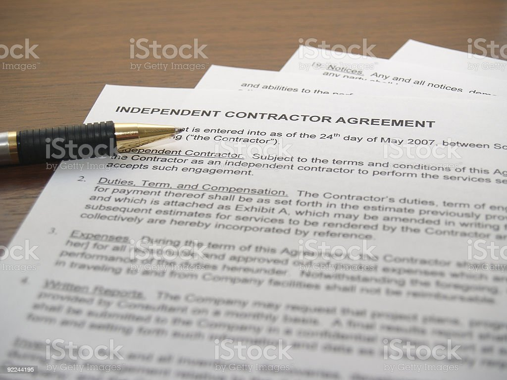 Contracting Papers stock photo