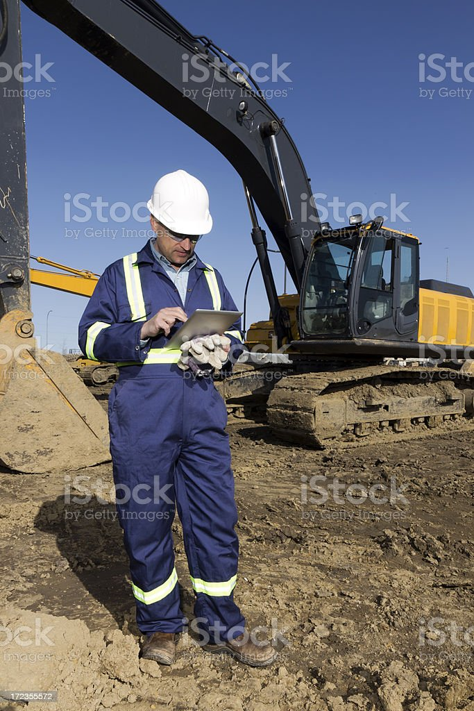 Contractor and Technology stock photo