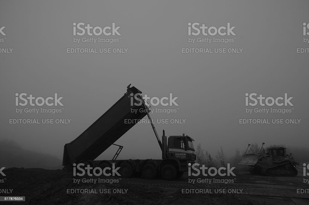 Contractor at work stock photo