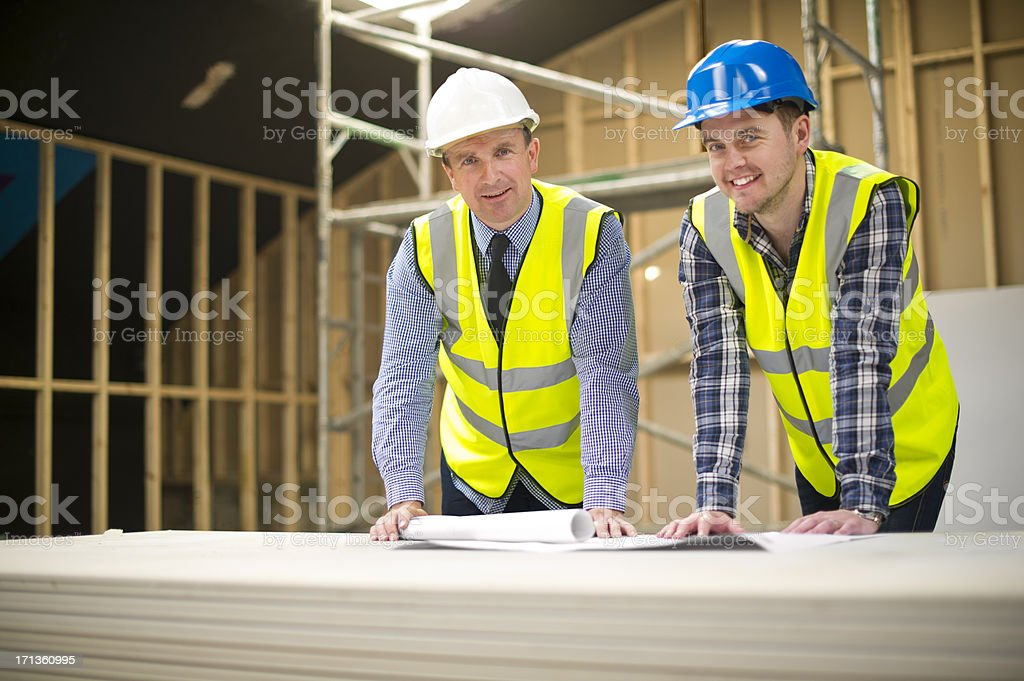 contractor chit chat royalty-free stock photo