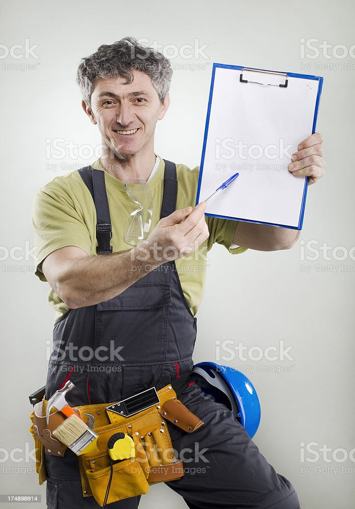 contractor making an offer royalty-free stock photo