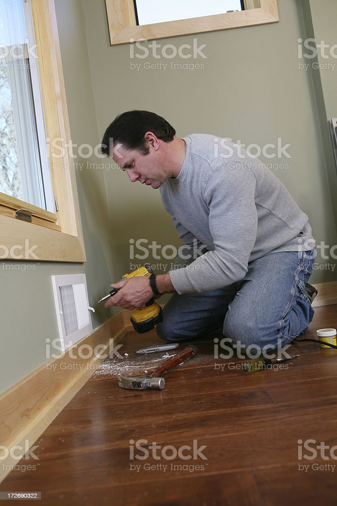 Contractor Remodeling royalty-free stock photo