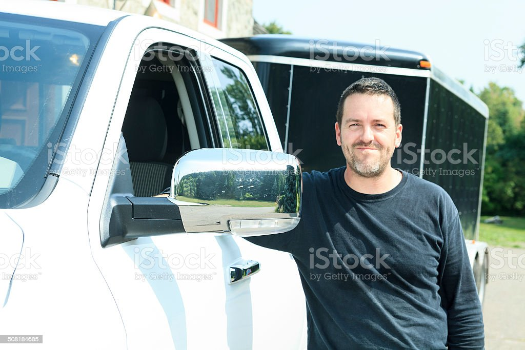 Contractor Truck stock photo