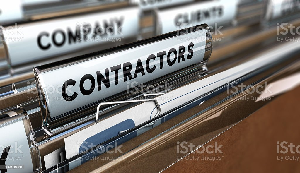 Contractors Database stock photo