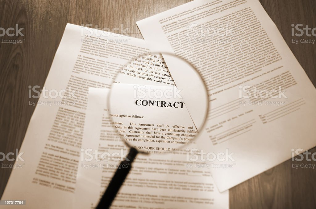 contracts series royalty-free stock photo