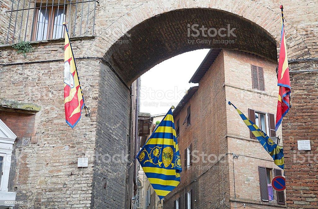 Contrade of Siena, Tuscany, Italy stock photo