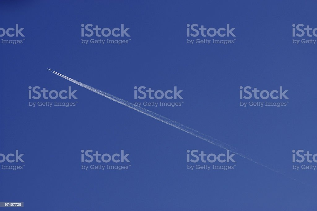 Contrail royalty-free stock photo