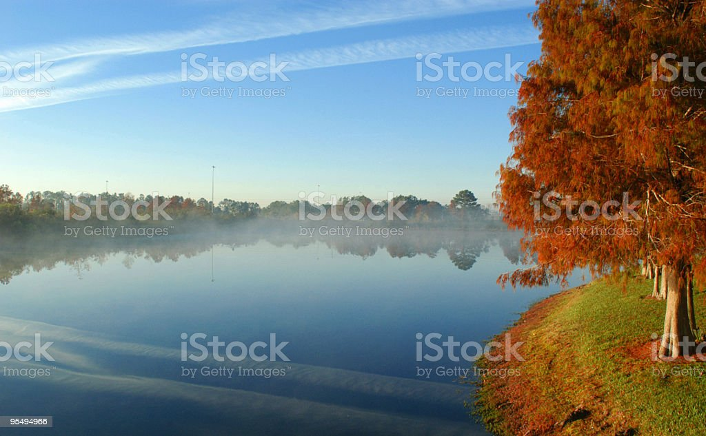 Contrail Reflection royalty-free stock photo