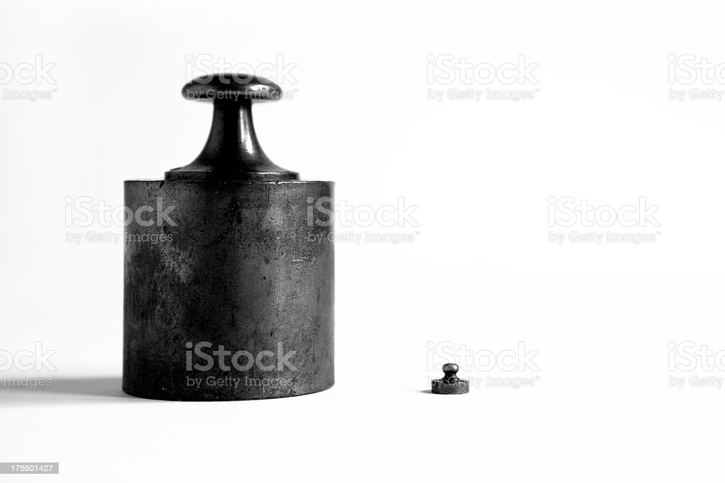 Contrast between two weights stock photo