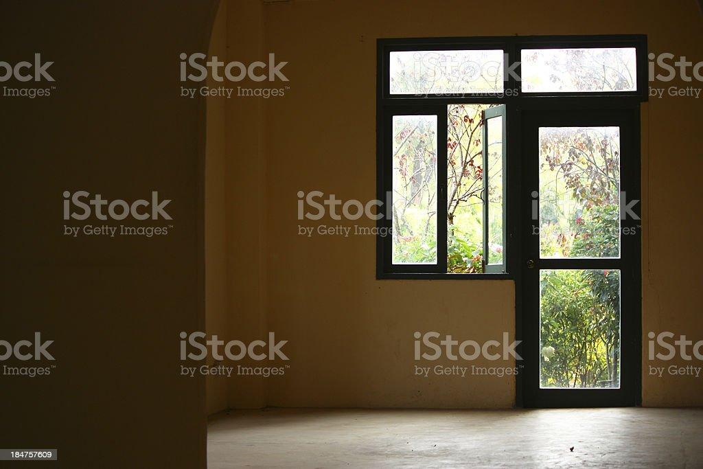 Contrast door and window stock photo