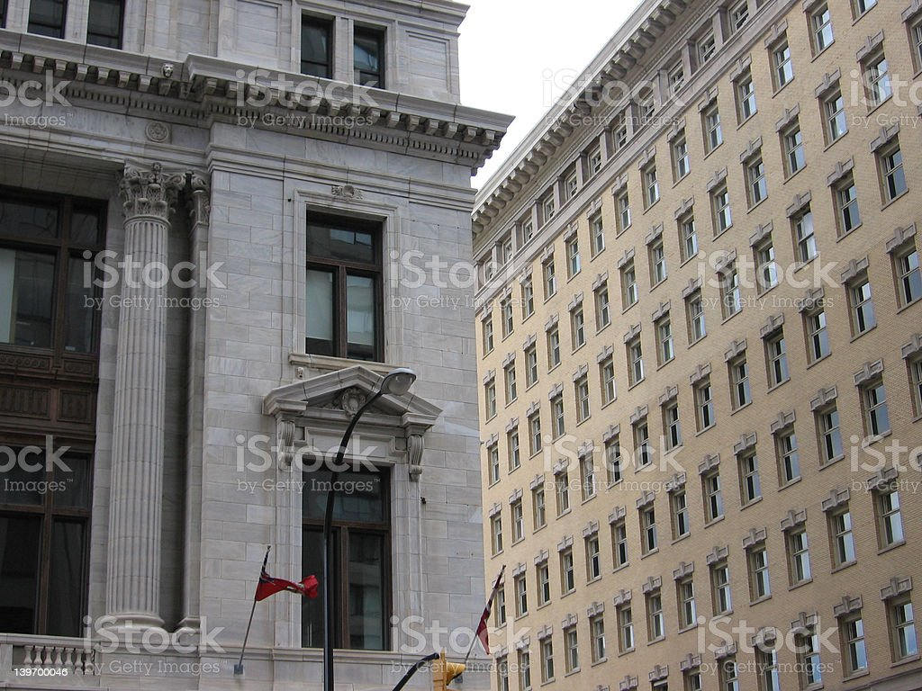 Contrasting Buildings royalty-free stock photo