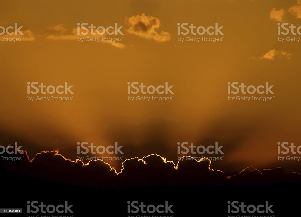 Contrasting sunset royalty-free stock photo