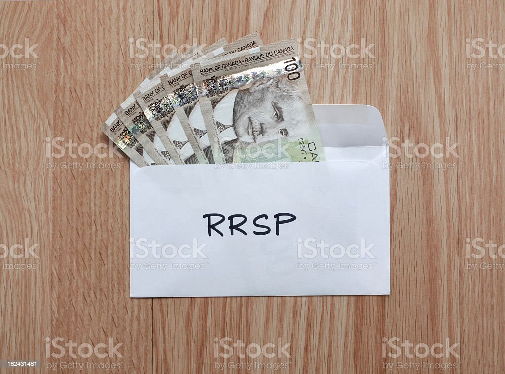 RRSP Contribution royalty-free stock photo