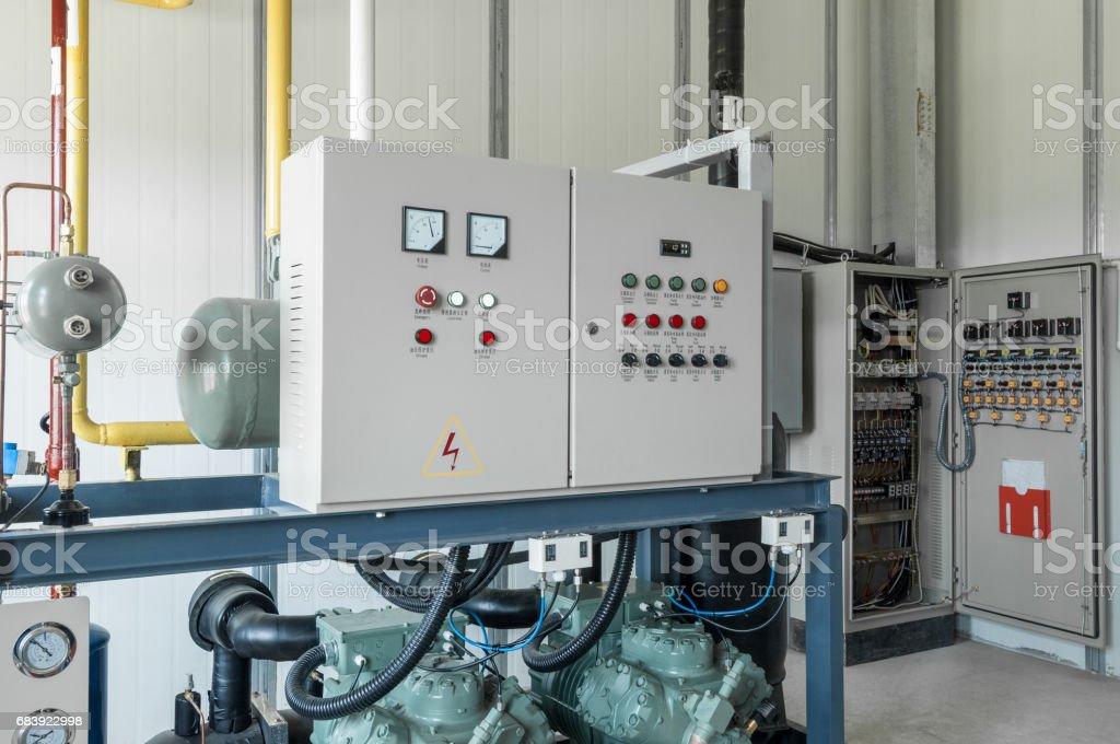 control board for the compressor stock photo