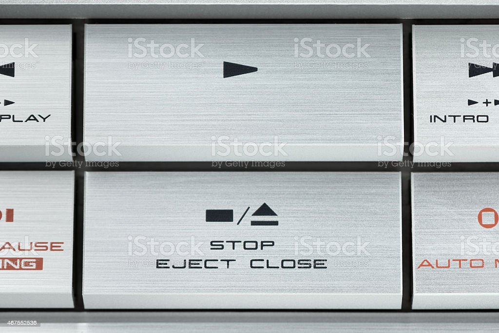 Control buttons audio equipment stock photo