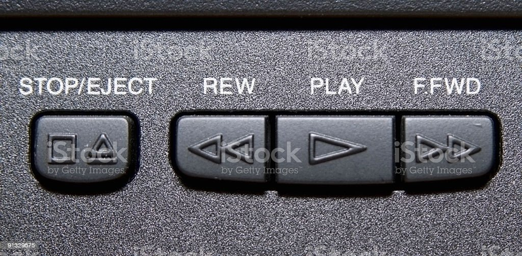 Control Buttons - VCR royalty-free stock photo