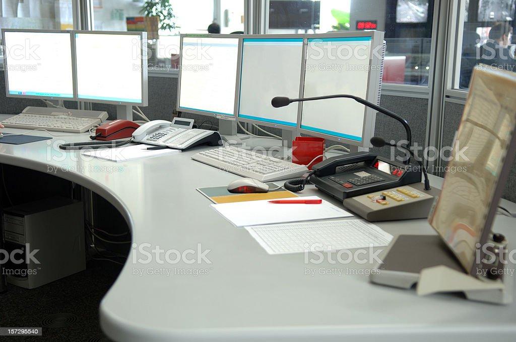 Control center #4 stock photo