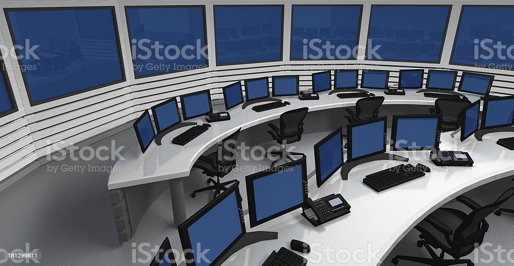 Control center stock photo