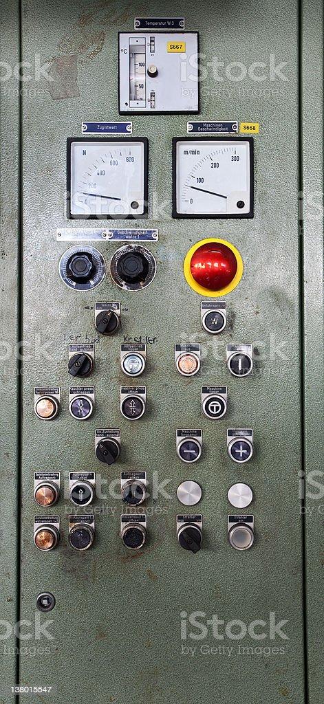 Control desk royalty-free stock photo