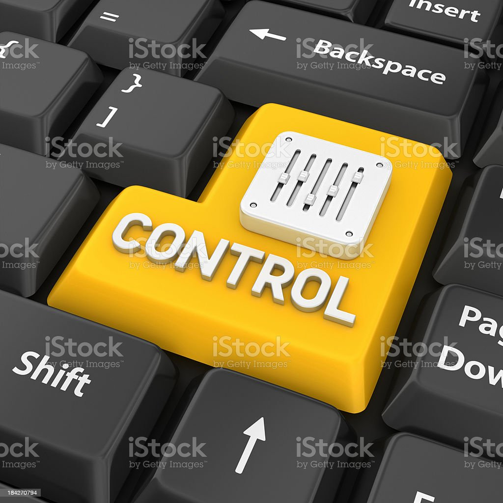 control enter key stock photo