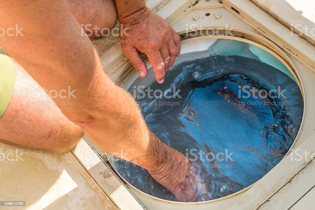 Control filtration system pool royalty-free stock photo