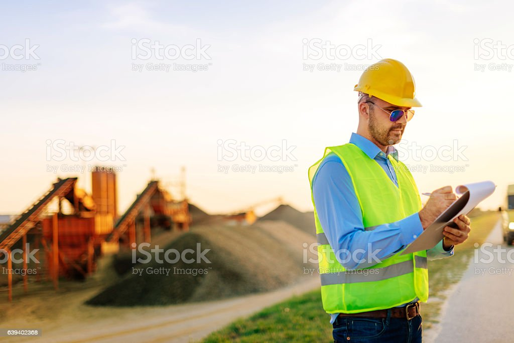 Control in work porcess and result evaluation stock photo