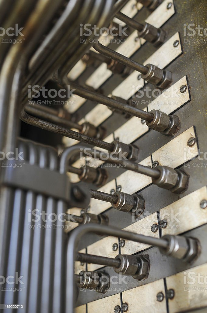 control line in oil and gas industry stock photo