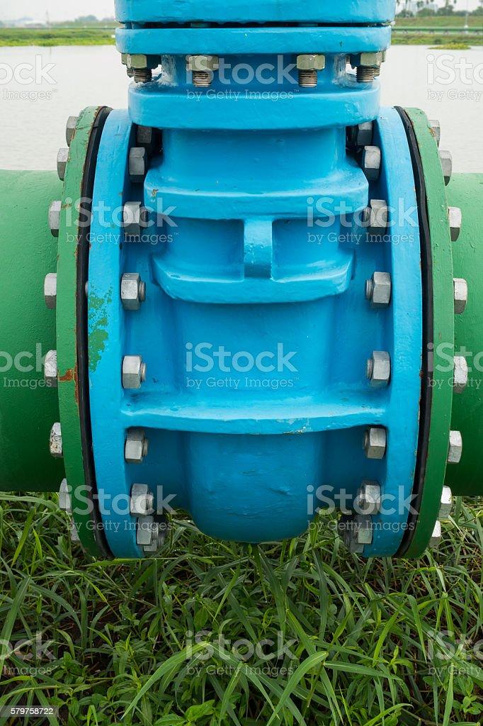 Control main valve, Water control main valve, Pipeline distribut stock photo