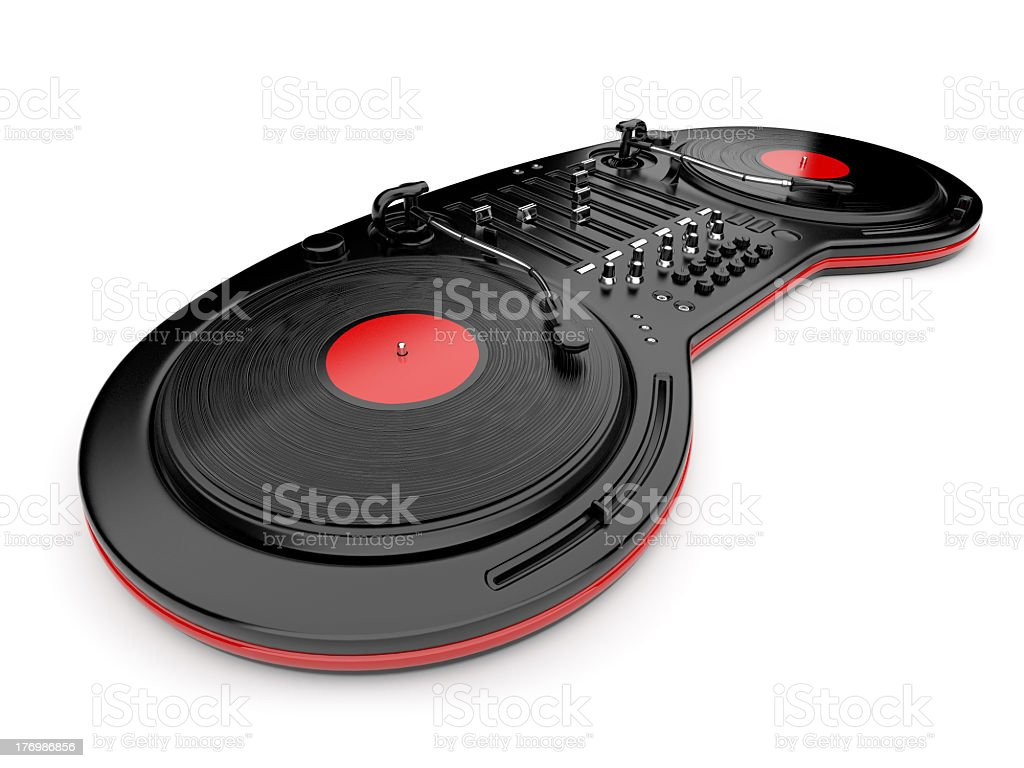 DJ control of music royalty-free stock photo